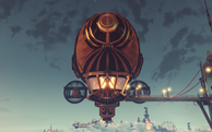 BioShock Infinite - Soldier's Field - First Lady's Aerodrome - The First Lady Airship-front f0785