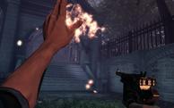 BioShock Infinite - Downtown Emporia - Memorial Gardens - gear grave fire f0823