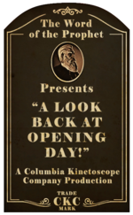 Kinetoscope A Look Back on Opening Day