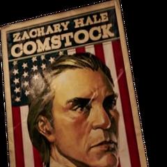 Un cartel mostrando el rostro de Comstock, en la demo del 2012.