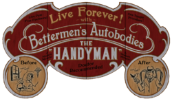 Handyman Fairgrounds sign