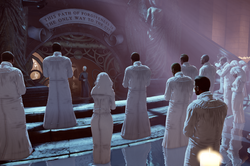 BioShock Infinite - Town Center - Welcome Center - Preacher Witting-group f0814