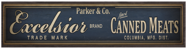 File:Parker and Co Excelsior Canned Meats sign.png