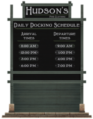 Hudson's Daily Docking Schedule