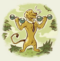 Unused Ryan the Lion Weights Propaganda Art.png