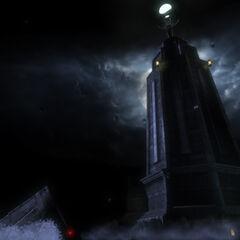 Imagen remasterizada del faro de <i>BioShock</i>.