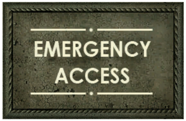File:Emergency Access sign.png