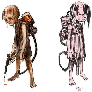 Segundo diseño: pequeñas zombis