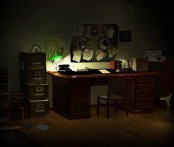 Box on desk