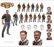 BioShock Infinite Booker DeWitt Concept Art