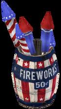 Fireworks Barrel render