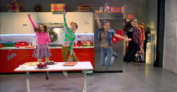 Rosaanna, Bernie, Paige, and Frankie Freeze Frame