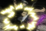 Yami blocks Licht's attack