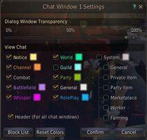 Social chat options
