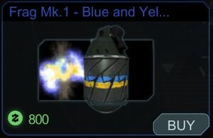 Frag mk.1 - Blue and yellow explosion mod