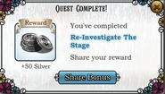 Quest Re-investigate The Stage-Rewards