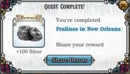 Quest Pralines in New Orleans-Rewards