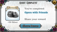 Quest Opera house with friends-Rewards