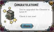 Upgrade chemist level 4 complete