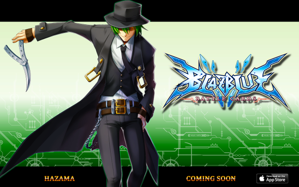 File:BlazBlue Battle Cards (Announcement of Hazama).png