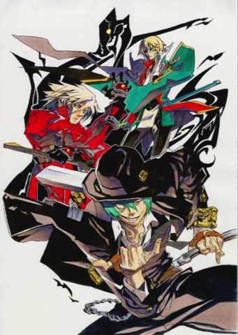 File:BlazBlue Chronophantasma Story Maniacs Material Collection II (Illustration, 9).png
