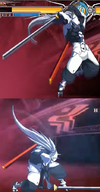 BBCF Hakumen Empty Sky Forbidden Form Heavenfall