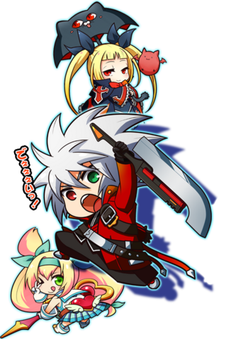File:Ragna the Bloodedge, Rachel Alucard, Platinum the Trinity (Clone Phantasma, Character Select Artwork).png