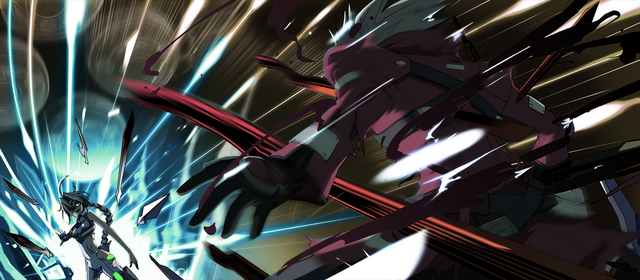File:Ragna the Bloodedge (Calamity Trigger, Arcade Mode Illustration, 1).png