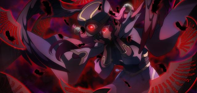 File:Tsubaki Yayoi (Chronophantasma, Arcade Mode Illustration, 2, Type A).png