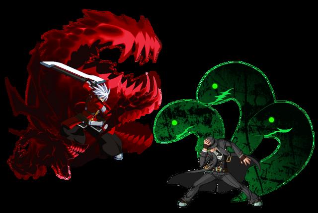 File:Ragna the Bloodedge, Hazama (Fan Art, User Picture, GunBlazer, 1).png