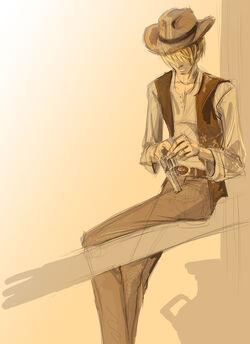Cowboy by olafpriol