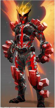 Elemental armor fire by pixelsaurus-d4luezw