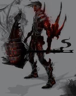 Hephaestus God of Fire Final by skechitYAS