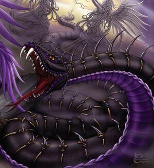 The Black Serpent by caleyndar