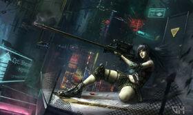 Kaiya and her gun