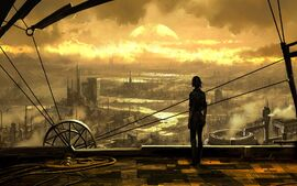 Sunset-steampunk-wallpaper