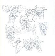 A demon child sketch by skull boy666-d4dffmg