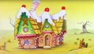 Blinky Bill and Gretel Gingerbread house