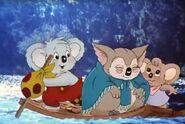 Blinky Bill mischievous koala Blinky,Nutsy and Granny on boat