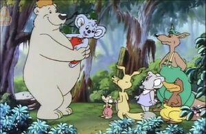 Blinky Bill and polar bear