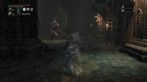 Bloodborne-Interestingly, the enemy version can be used to combat other enemies. Undead Giant (cannon variation) - ROUND 2