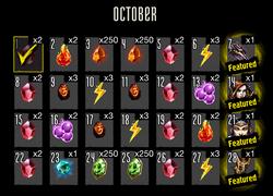 Login Bonus October 2016