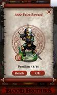Ashigaru Commander GOS Point Reward