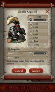 Gorilla Angler II (evolved from 4 level 1 Gorilla Huntsmen)