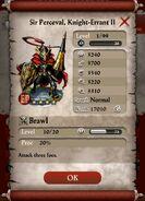 Sir Perceval, Knight-Errant II Base Stat questioin mark