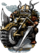Dwarven Hog Knight Figure