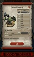 Orcish Warrior plus (base stats)