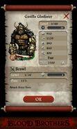 Gorilla Gladiator (base stats)