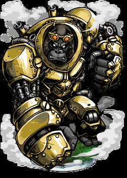 Brass Gorilla Figure