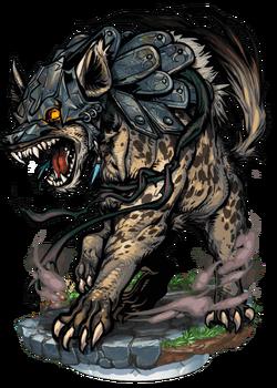 Bronzeclad Hyena Figure